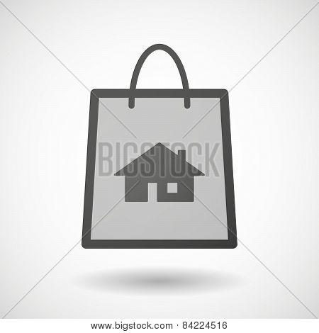 Shopping Bag Icon With A House