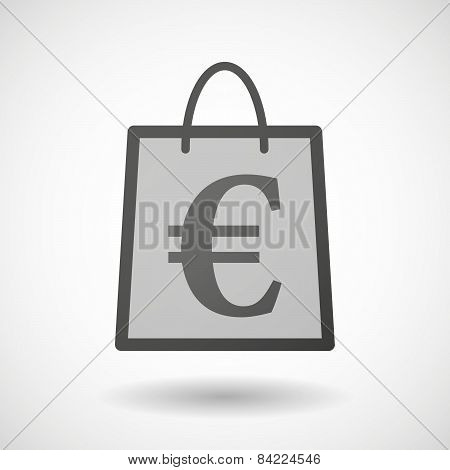 Shopping Bag Icon With An Euro Sign