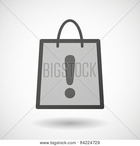 Shopping Bag Icon With An Exclamation Sign