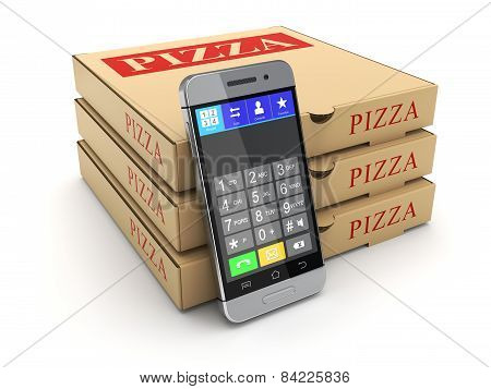 Pizza package and mobile phone