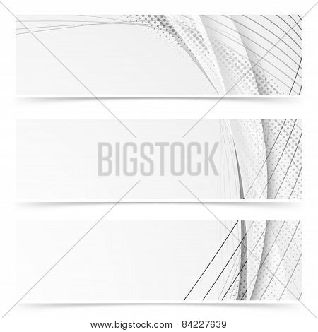 Web Abstract Modern Swoosh Gray Line Banners