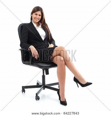 Executive Business Woman Sitting On A Chair