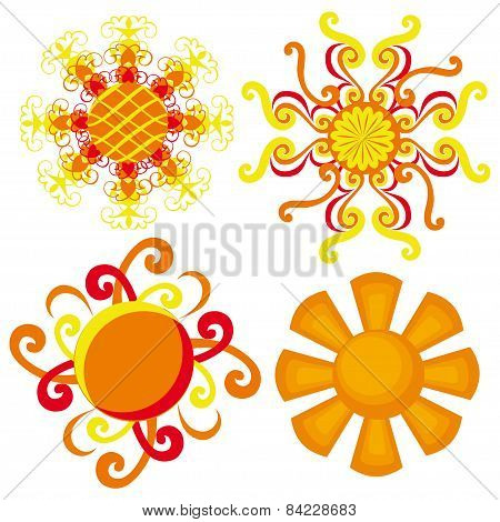 suns. decorative sun on a white background.