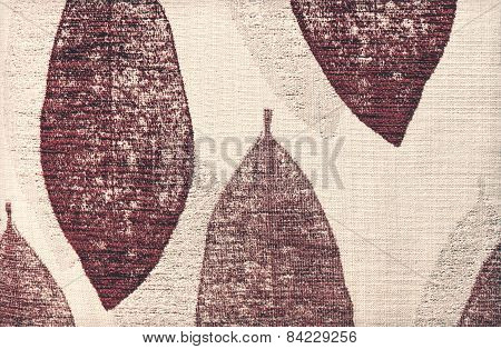 Vintage - Red Leaf Chintz Cloth Texture