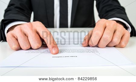 Lawyer Explaining Terms And Conditions