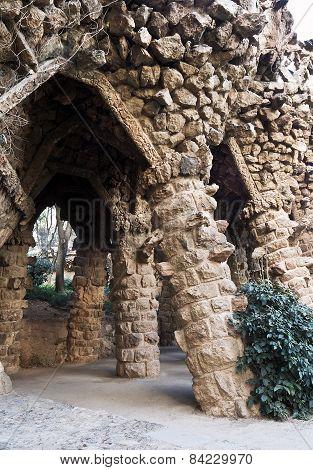 Gallery in the Park Guell