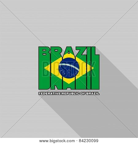 Brazil Flag Typography, T-shirt Graphics