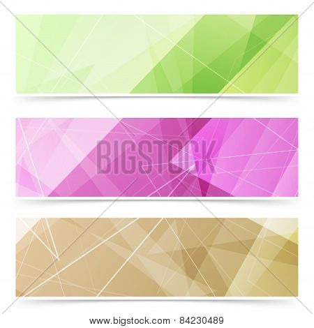 Triangular Pattern Web Footer Collection