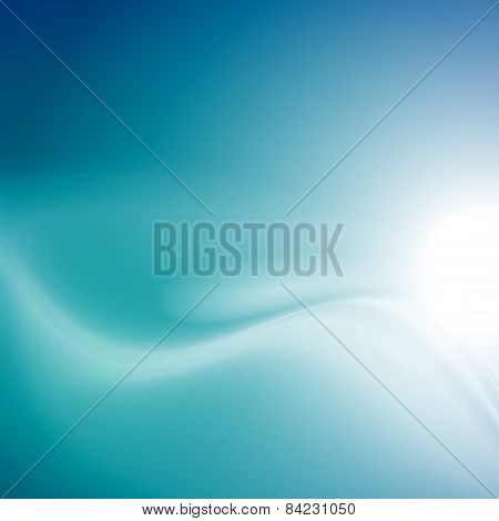 Modern Blue Smooth Background Abstraction With Swoosh Wave