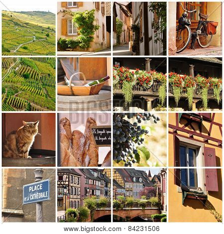 Alsace, France Collage