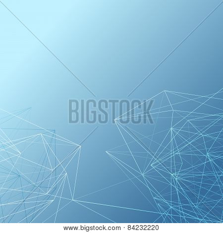 Abstract Modern Crystal Line Pattern Background