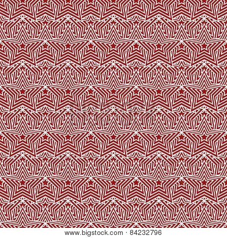 Red And White Star Tiles Pattern Repeat Background