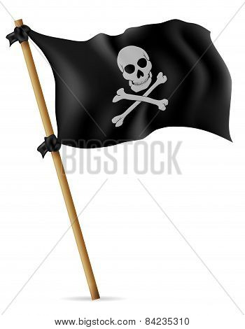 Pirate Flag Vector Illustration