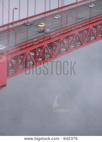 GoldenGate-Bridge zu schweben