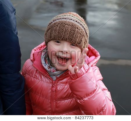 Happy Family Moments - Young Girl Having Fun In The City