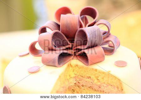 Detail Of Marzipan Cake