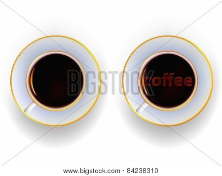 Cup With A Drink Of Coffee