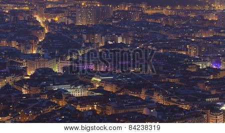 Nightfall In Bilbao, Bizkaia, Basque Country, Spain