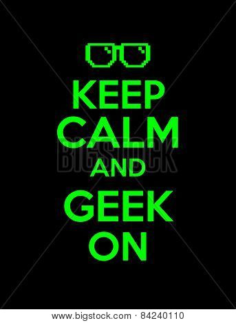 keep calm  geek screen