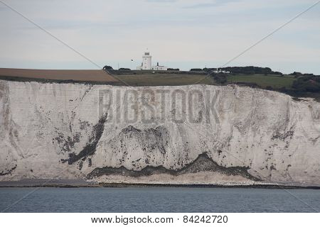 White chalk cliffs