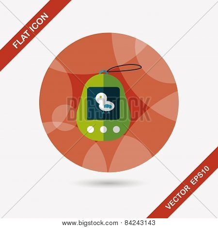 Pocket Pet Flat Icon With Long Shadow,eps 10