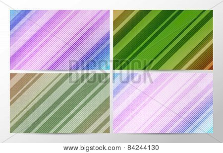 vector backgrounds set