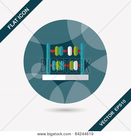 Abacus Calculation Flat Icon With Long Shadow,eps10