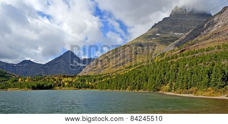 Fishercap Lake In Many Glacier