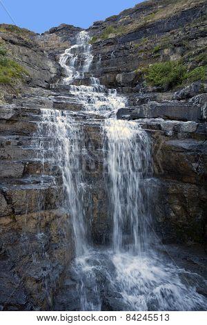 Haystack Falls Glacier National Park