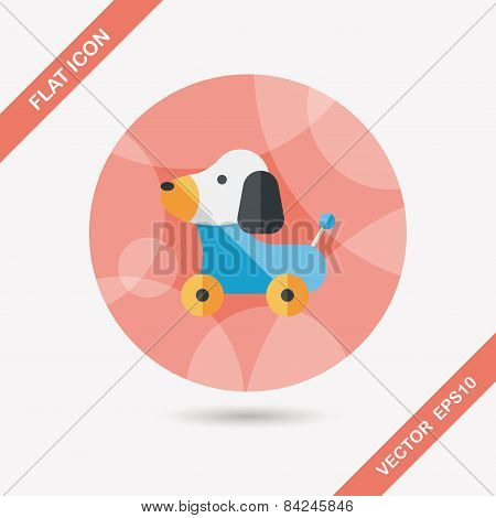 Toy Dog Flat Icon With Long Shadow,eps 10
