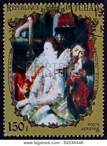 Postage Stamp Chad 1972 Marriage Of Marie De Medicis