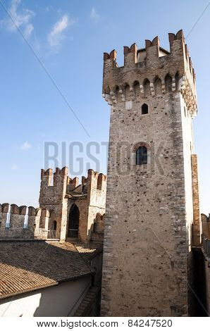Tower of Sirmione Citadel, Garda lake