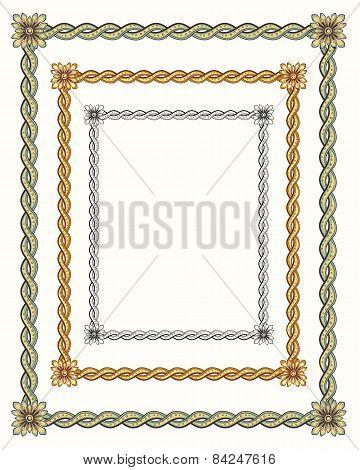 3 twisted vintage rope frames