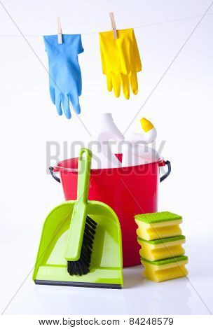 cleaning detergents and items