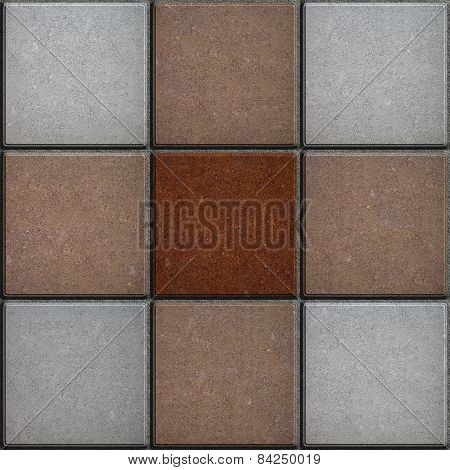 Cross-Shaped Pattern Consisting of Square Tiles.