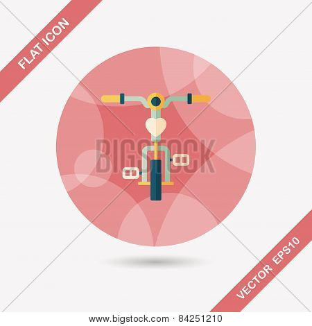 Transportation Bicycle Flat Icon With Long Shadow,eps10