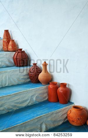 Group Of Clay Jugs