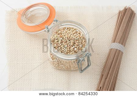 raw food made with buckwheat