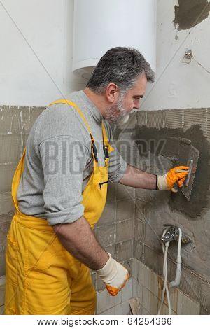 Home Renovation, Mason Fixing Wall