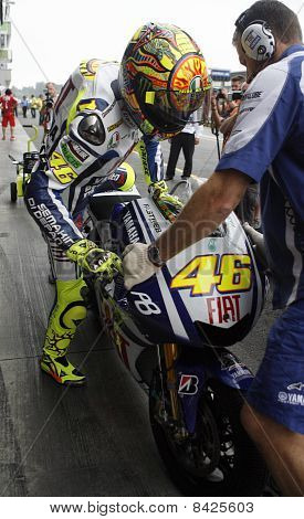 BRNO, CZECH REP, AUGUST-15:Valentino Rossi at the Masaryk circuit arrived fifth on Sunday,15th Augus
