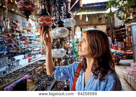 woman in the gift shop