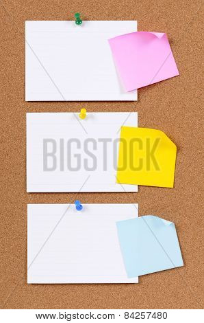 Index Cards With Sticky Notes