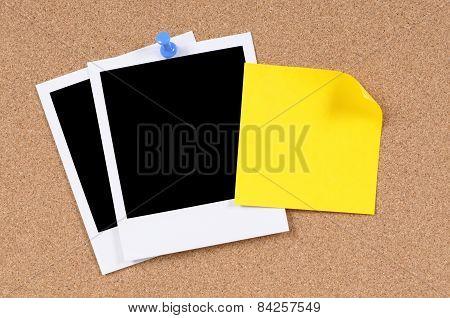 Blank Photo Prints With Sticky Note
