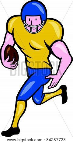 American Football Running Back Cartoon