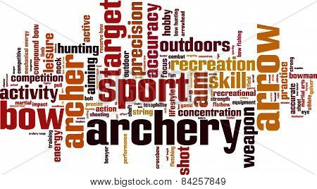 Archery Word Cloud