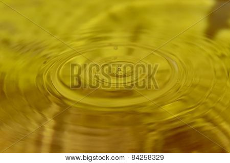 Drop in yellow liquid