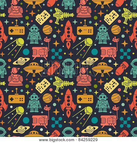 Sci-fi retro pattern