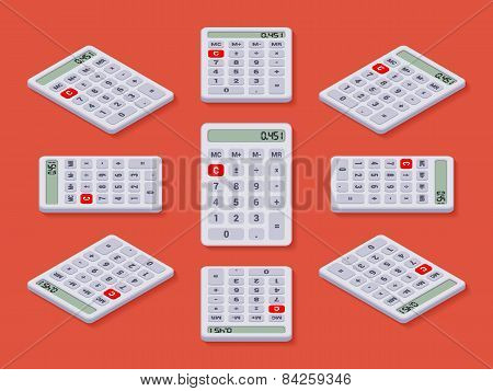 White isometric calculator