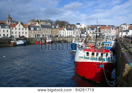 Pittenweem, Scotland, Uk