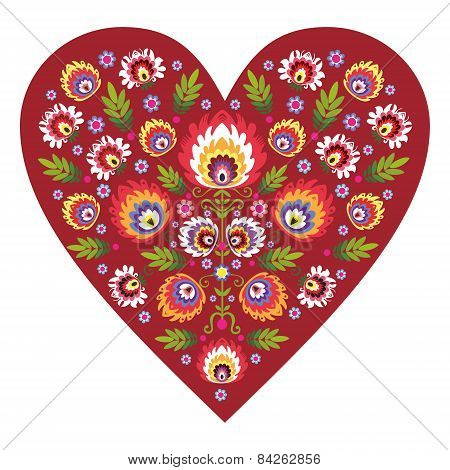 Polish folk heart